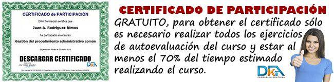 cursos gratis con certificado de participación DKA