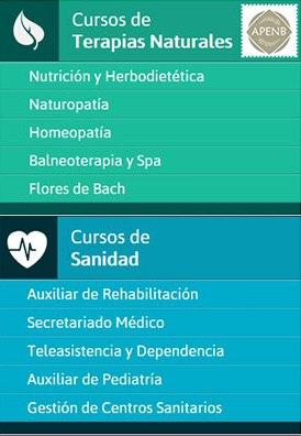 Cursos de sanidad y de terapias naturales