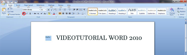 videotutorial word 2010